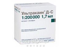 Ультракаин д-с д/ин картридж 1.7мл №100 анестетик в стоматологии