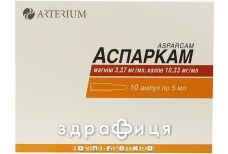 Аспаркам р-н д/iн. амп.10 мл №10