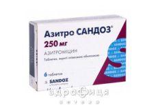 АЗИТРО САНДОЗ ТАБ П/О 250МГ №6 /N/ | антибиотики