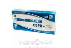 ЛЕВОФЛОКСАЦИН ЄВРО Р-Н Д/ІНФ 500МГ/100МЛ 100МЛ антибіотики