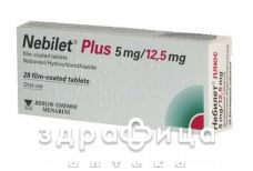 Небiлет плюс 5/12,5 таб в/о №28 - таблетки від підвищеного тиску (гіпертонії)