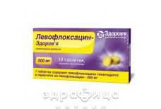 ЛЕВОФЛОКСАЦИН-ЗДОРОВ'Я, табл. в/о 500 мг №10 антибіотики