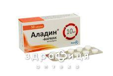 Аладин таб 10мг №50 - таблетки від підвищеного тиску (гіпертонії)