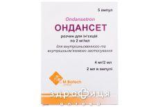 ОНДАНСЕТ Р-Н Д/IН 2МГ/МЛ 2МЛ №5 таблетки від нудоти і блювоти