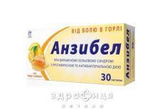 Анзибел пастилки зi смаком мед лимон №30