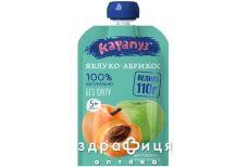 Дитяче харчування карапуз пюре яблуко-абрикос пауч 100г