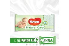 Серветки волог huggies natural care №56х3
