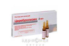 Церебролiзин р-н д/iн 215,2мг/мл 2мл №10 таблетки для пам'яті