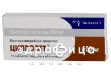 Ципролет табл. в/плiвк. обол. 500 мг №10