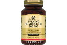 Solgar олiя примули вечiрньої капс 500мг №60 вітаміни для зміцнення волосся і нігтів