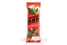 Cannabis bar батончик-мюслі з горіхами/каннабіс насіння 40г