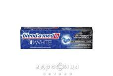Зубна паста blend-a-med 3d white відбілюван та глибок чистка з древесн вугіллям 100мл