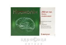 Ноохолін р-н д/ін 250мг/мл 4мл №3 таблетки для пам'яті