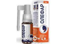 Олефар спрей 20мл таблетки від горла