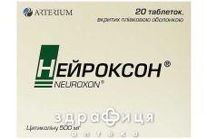 Нейроксон таб в/о 500мг № 20 (10х2) таблетки для пам'яті