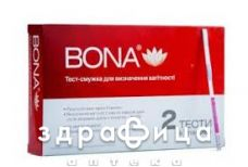 Тест-смужка для визначення вагiтностi bona №2