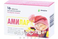 Амiлар iс таб д/розсм вишня №16 таблетки від горла
