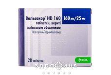 Вальсакор HD таб п/о 160мг/25мг №28 - таблетки от повышенного давления (гипертонии)