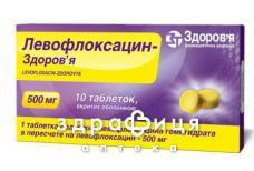 Левофлоксацин-Здоровье таб п/о 500мг №10