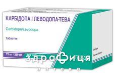 Карбiдопа i леводопа-тева табл. 25 мг + 250 мг №100
