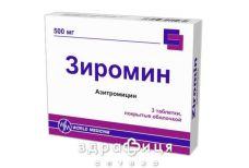 ЗИРОМИН ТАБ В/О 500МГ №3 антибіотики