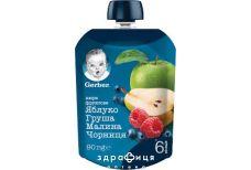 Gerber пюре яблуко/груша/малина/чорниця 90г