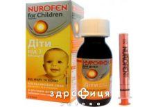 Нурофєн для дiтей форте сусп 200мг/5мл апельсин смак 100мл