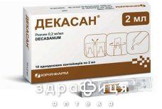 Декасан р-н 0,2мг/мл конт 2мл №10 - антисептик