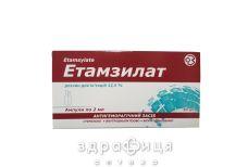 Етамзилат р-н д/iн 12,5% 2мл №10 - кровоспинні