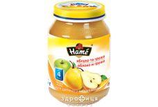 Hame пюре яблуко/груша з 5 мiс 190г 1215231