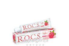 Зубная паста Rocs (Рокс) вкус малины 74г