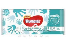 Серветки вологi дит huggies all over clean №56