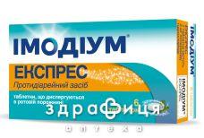 Імодiум експрес таб дисперг 2мг №6 ліки від діареї