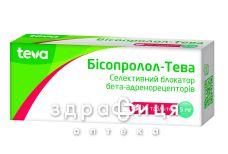 Бiсопролол-тева таб 5мг №30 - таблетки від підвищеного тиску (гіпертонії)
