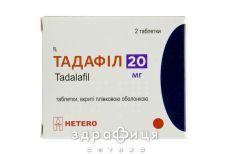 Тадафил таб п/о 20мг №2 для потенції