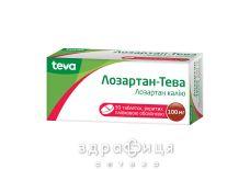 Лозартан-Тева таб п/о 100мг №30 - таблетки от повышенного давления (гипертонии)