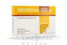Урсофальк таб в/о 500мг №25 гепатопротектори для печінки