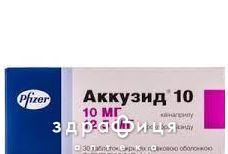 Аккузид 10 таб в/о 10мг/125мг №30 - таблетки від підвищеного тиску (гіпертонії)