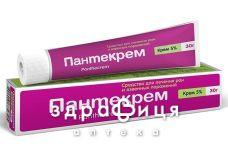 Пантекрем крем 5% туба 30г для загоєння ран