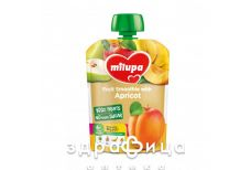 Milupa пюре фрукт яблуко/груша/банан/абрикос з 6мiс 80г