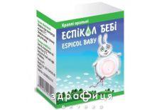 Еспiкол бебi краплі орал 40мг/мл з пипетк 15мл таблетки від здуття живота