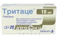 Тритаце табл. 10 мг №28 (14х2) - таблетки від підвищеного тиску (гіпертонії)