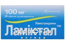 Ламiктал табл. дисперг. 100 мг №28