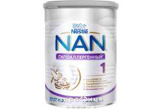 """Суха молочна сумiш """"NAN h.a. 1 гiпоалергенний"""" банка жестяная 400 г"""