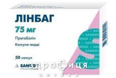 Линбаг капс 75мг №30 таблетки от эпилепсии