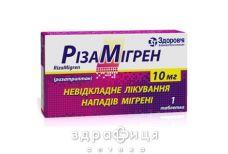 Рiзамiгрен таб 10мг №1 таблетки від головного болю