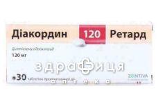 Диакордин 120 ретард таб 120мг №30