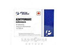 АЗИТРОМАКС ТАБ П/О 250МГ №6 /N/ | антибиотики