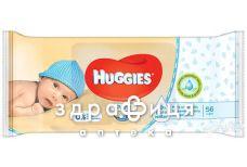 Серветки вологi дит huggies pure №56х3