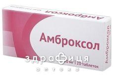 АМБРОКСОЛ, табл. 30 мг блiстер №20 від сухого кашлю